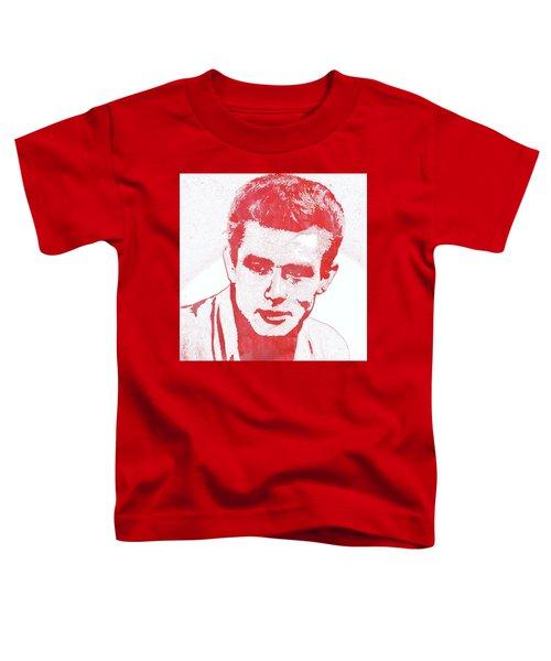 James Dean Pop Art Toddler T-Shirt by Mary Bassett