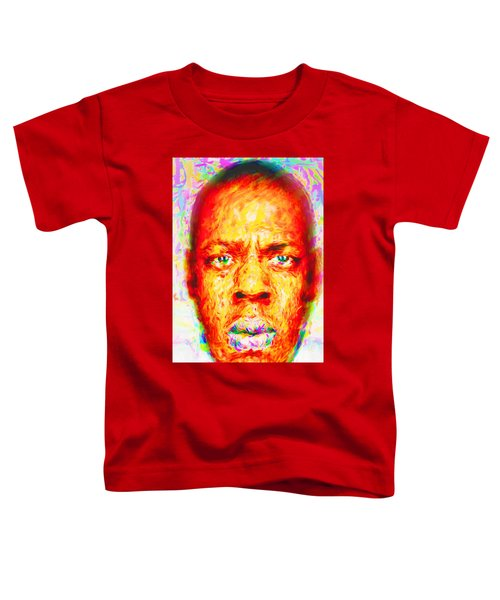 Jay-z Shawn Carter Digitally Painted Toddler T-Shirt by David Haskett