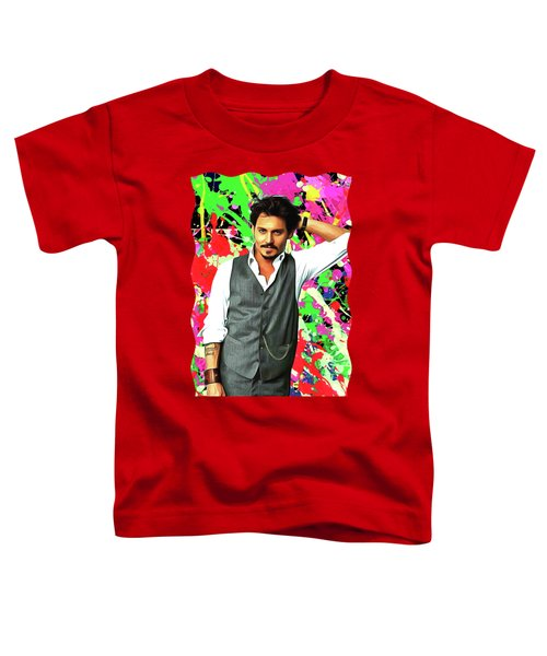 Johnny Depp - Celebrity Art Toddler T-Shirt