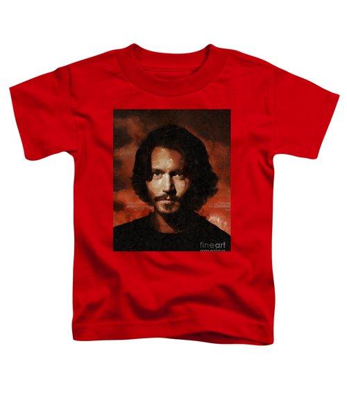 Johnny Depp, Hollywood Legend By Mary Bassett Toddler T-Shirt