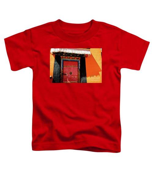 Jokhang Temple Door Lhasa  Tibet Artmif.lv Toddler T-Shirt