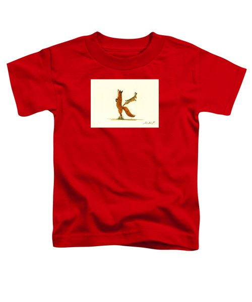 K Letter Woodland Alphabet Toddler T-Shirt by Juan  Bosco