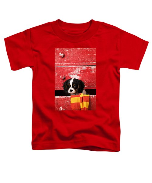 King Charles Cavalier Puppy  Toddler T-Shirt