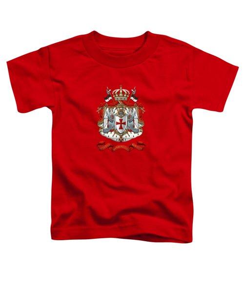 Knights Templar - Coat Of Arms Over Red Velvet Toddler T-Shirt