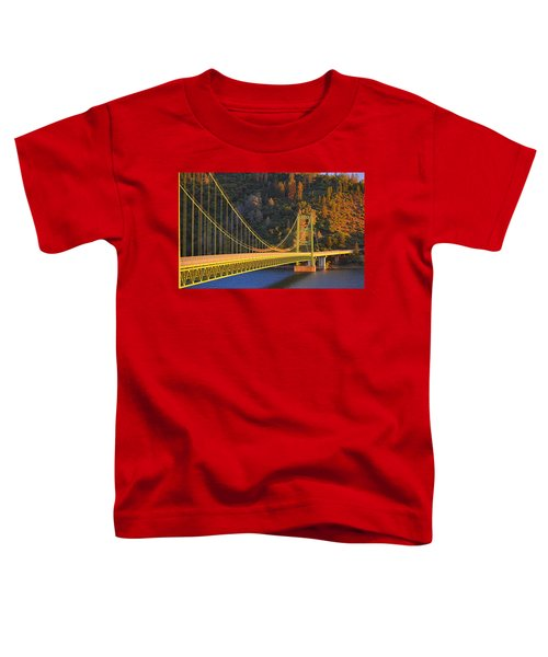 Lake Oroville Green Bridge At Sunset Toddler T-Shirt