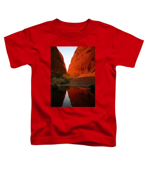 Late Afternoon Light And Reflections At Kata Tjuta In The Northern Territory Toddler T-Shirt