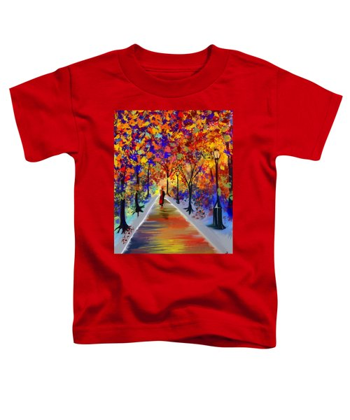 Toddler T-Shirt featuring the digital art Leaving Alone by Gerry Morgan