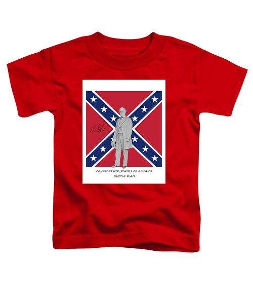 Lee Battleflag Toddler T-Shirt