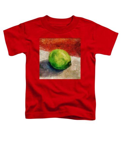 Lime Still Life Toddler T-Shirt