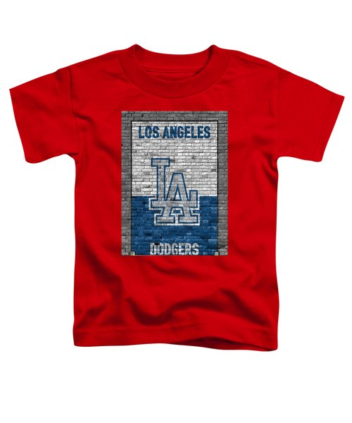 Los Angeles Dodgers Brick Wall Toddler T-Shirt