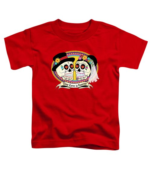 Los Novios Sugar Skulls Toddler T-Shirt