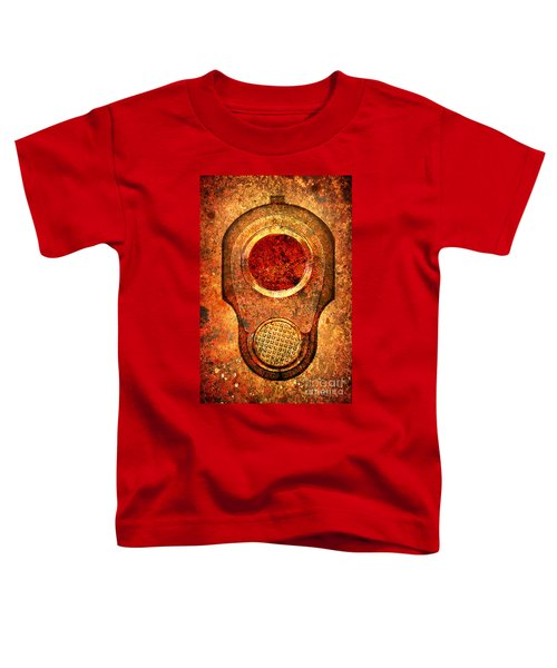 M1911 Muzzle On Rusted Background - With Red Filter Toddler T-Shirt