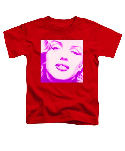 Marilyn Monroe, Purple And Pink Toddler T-Shirt