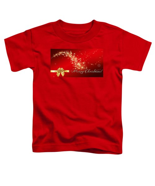 Merry Christmas Christmas Card Toddler T-Shirt by Bellesouth Studio