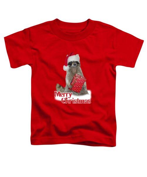 Merry Christmas -  Raccoon Toddler T-Shirt