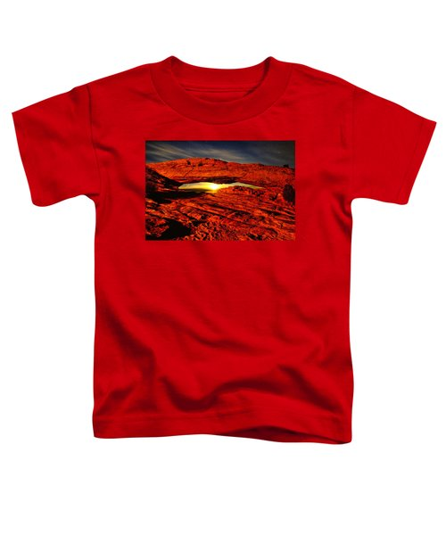 Toddler T-Shirt featuring the photograph Mesa Arch Moonshine by Greg Norrell