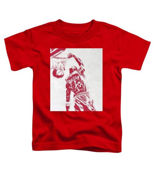 Michael Jordan Chicago Bulls Pixel Art 1 Toddler T-Shirt