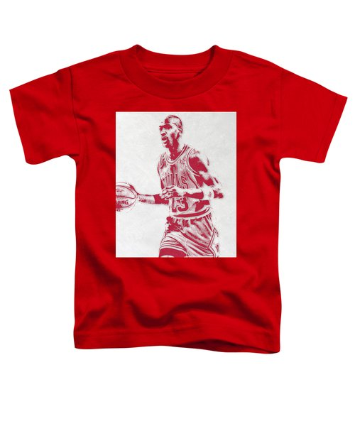 Michael Jordan Chicago Bulls Pixel Art 2 Toddler T-Shirt