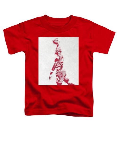 Michael Jordan Chicago Bulls Pixel Art 3 Toddler T-Shirt