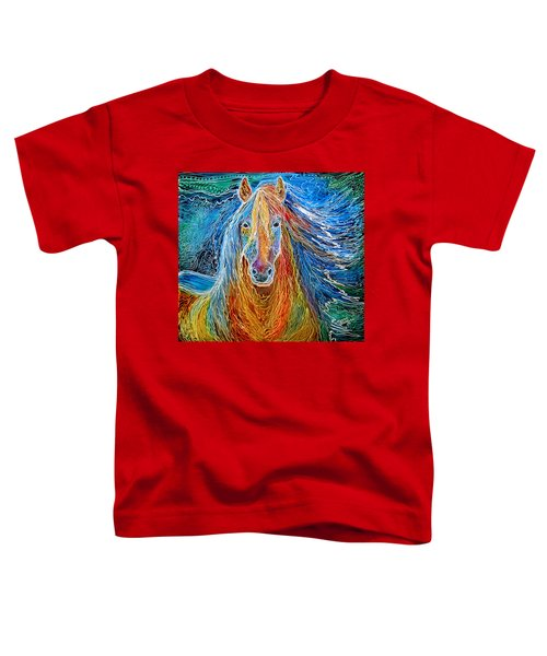 Midnightsun Equine Batik Toddler T-Shirt