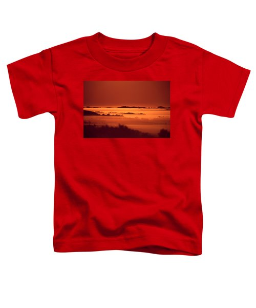 Misty Meadow At Sunrise Toddler T-Shirt