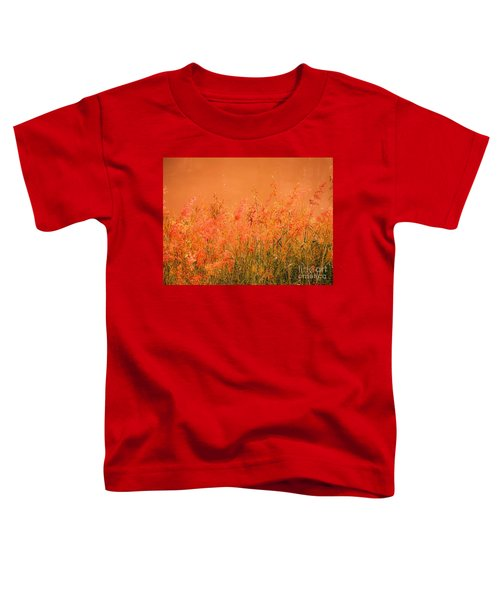 Misty Yellow Hue- Pink Blooms Toddler T-Shirt