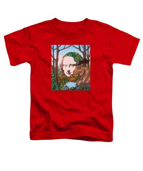 Mona Lisa . Earth Toddler T-Shirt