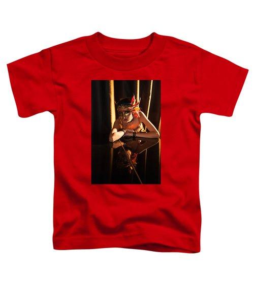 Mona. Reflection On Grand Piano Toddler T-Shirt