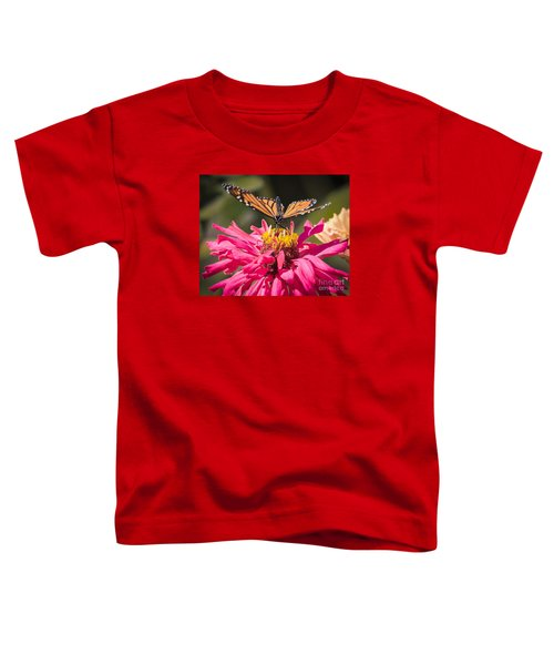 Toddler T-Shirt featuring the photograph Monarch On The Last Days Of Summer by Ricky L Jones