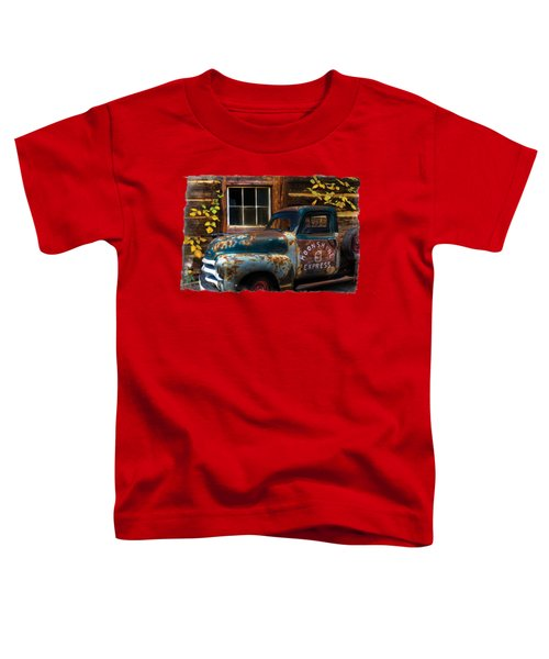 Toddler T-Shirt featuring the photograph Moonshine Express Bordered by Debra and Dave Vanderlaan