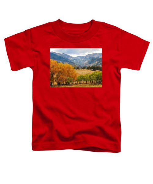 Moraine Park In Rocky Mountain National Park Toddler T-Shirt