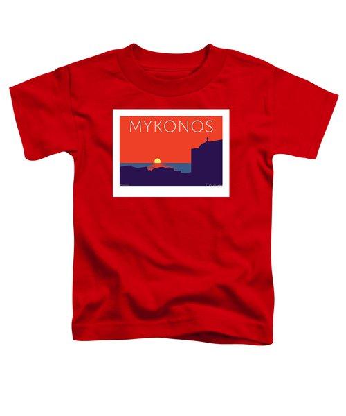 Mykonos Sunset Silhouette - Orange Toddler T-Shirt