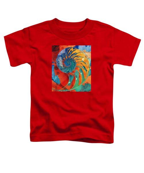 Nautilus Shell Orange Blue Green Toddler T-Shirt