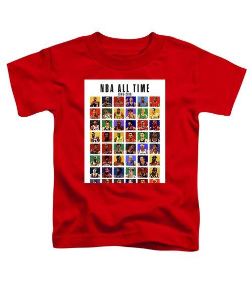 Nba All Times Toddler T-Shirt