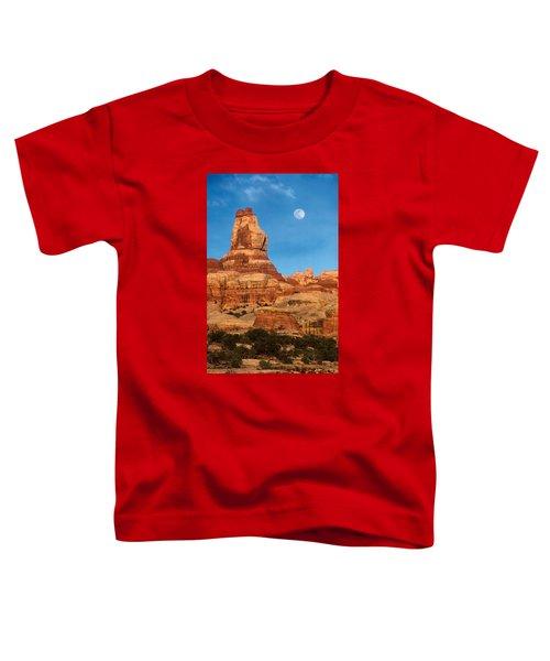 Needles Moonrise At Sunset Toddler T-Shirt