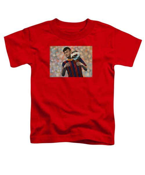 Neymar Toddler T-Shirt by Paul Meijering