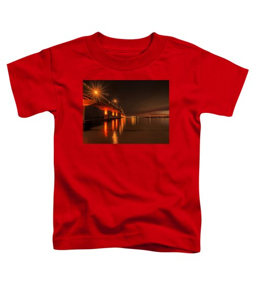 Night Time Reflections At The Bridge Toddler T-Shirt