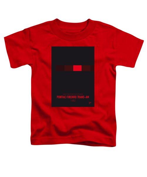 No019 My Knight Rider Minimal Movie Car Poster Toddler T-Shirt