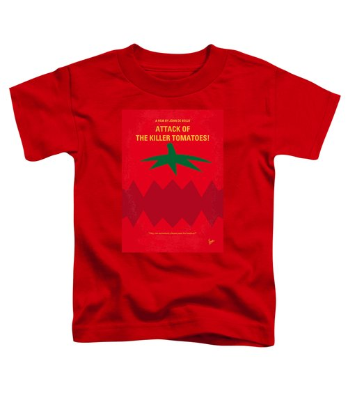 No499 My Attack Of The Killer Tomatoes Minimal Movie Poster Toddler T-Shirt