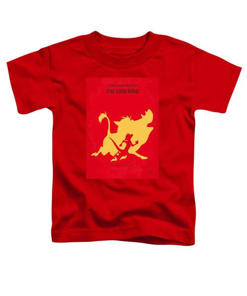 No512 My The Lion King Minimal Movie Poster Toddler T-Shirt by Chungkong Art