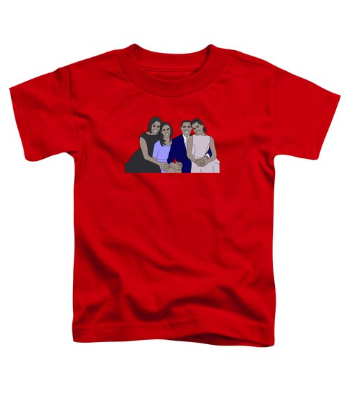 Obama Family Toddler T-Shirt by Priscilla Wolfe