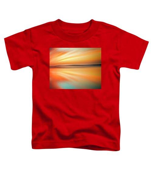 Ocean Beach Sunset Abstract Toddler T-Shirt