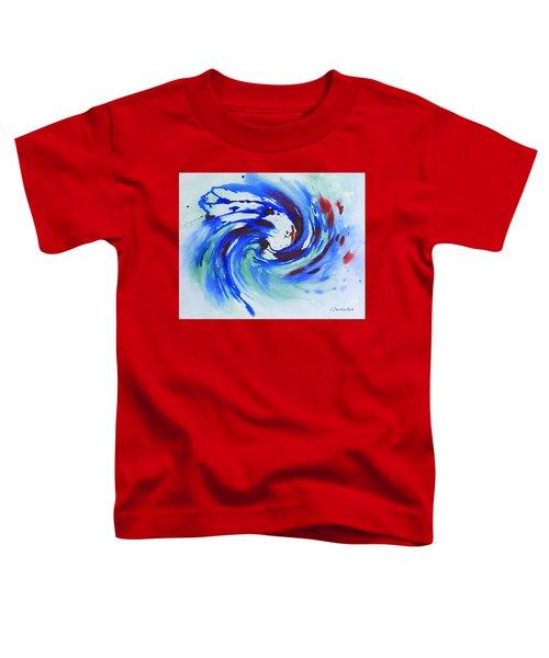 Ocean Wave Watercolor Toddler T-Shirt