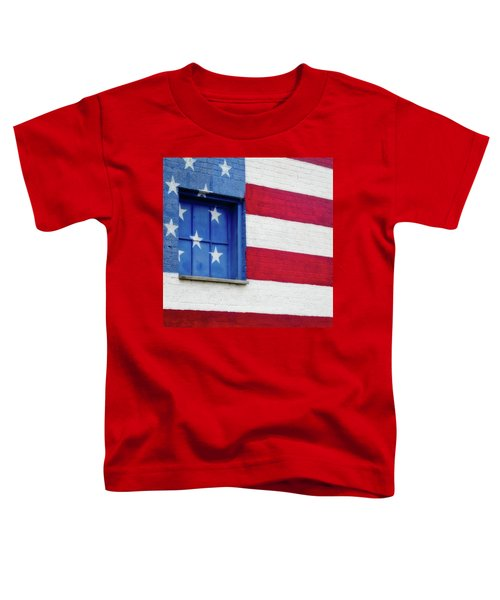 Old Glory, American Flag Mural, Street Art Toddler T-Shirt