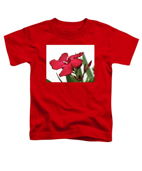 Oleander Blood-red Velvet 2 Toddler T-Shirt