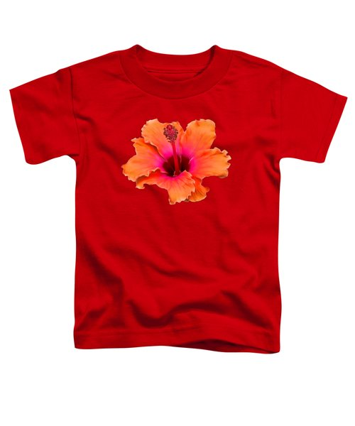 Orange And Pink Hibiscus Toddler T-Shirt