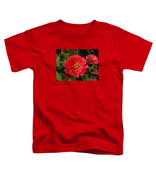 Orange Red Zinnia Toddler T-Shirt by Rod Ismay