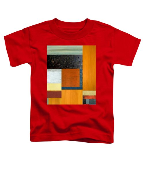 Toddler T-Shirt featuring the painting Orange Study With Compliments 2.0 by Michelle Calkins