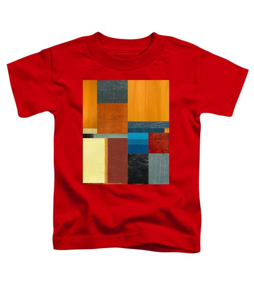 Toddler T-Shirt featuring the painting Orange Study With Compliments 3.0 by Michelle Calkins