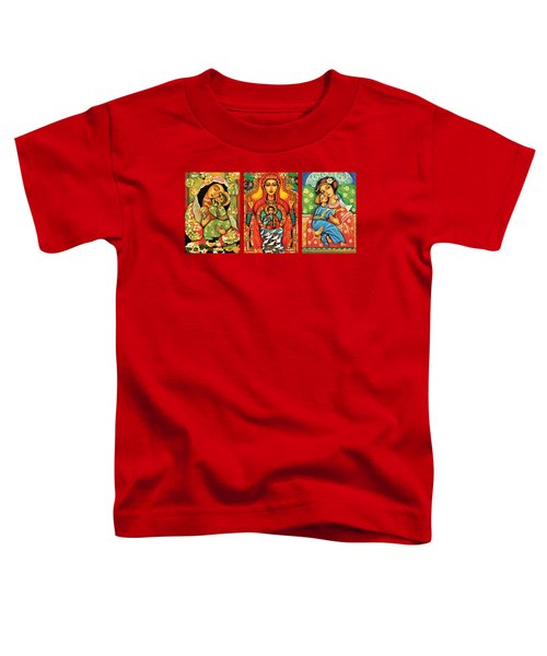 Madonnas With Child Toddler T-Shirt by Eva Campbell